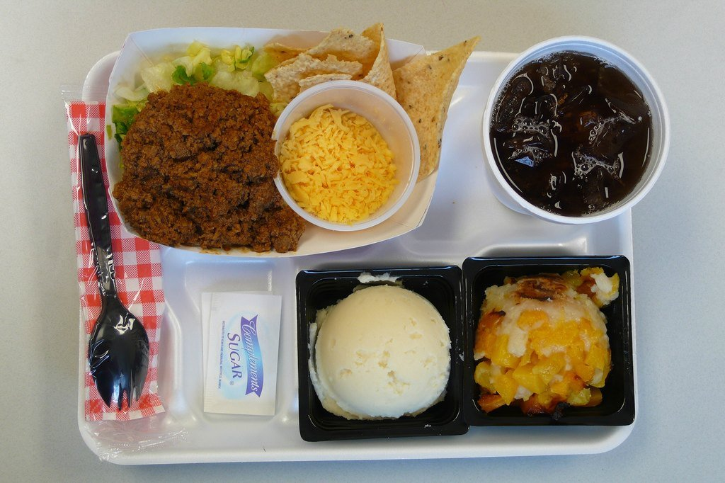 Обед в школе Англии