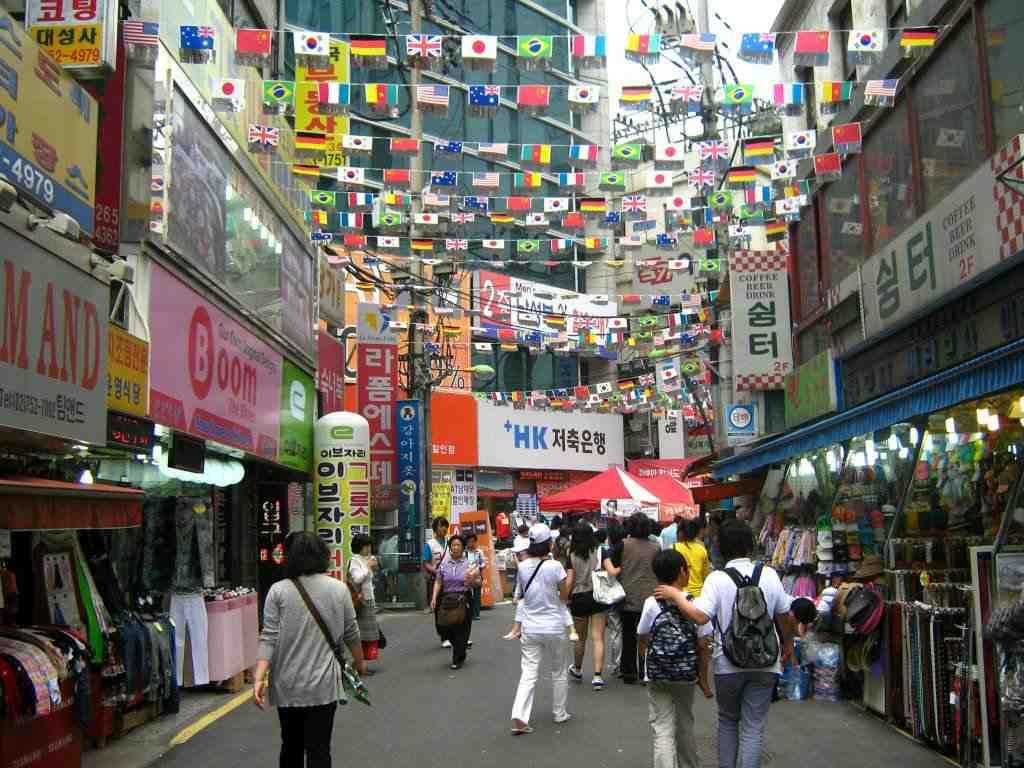 Фото торгового квартала в Корее