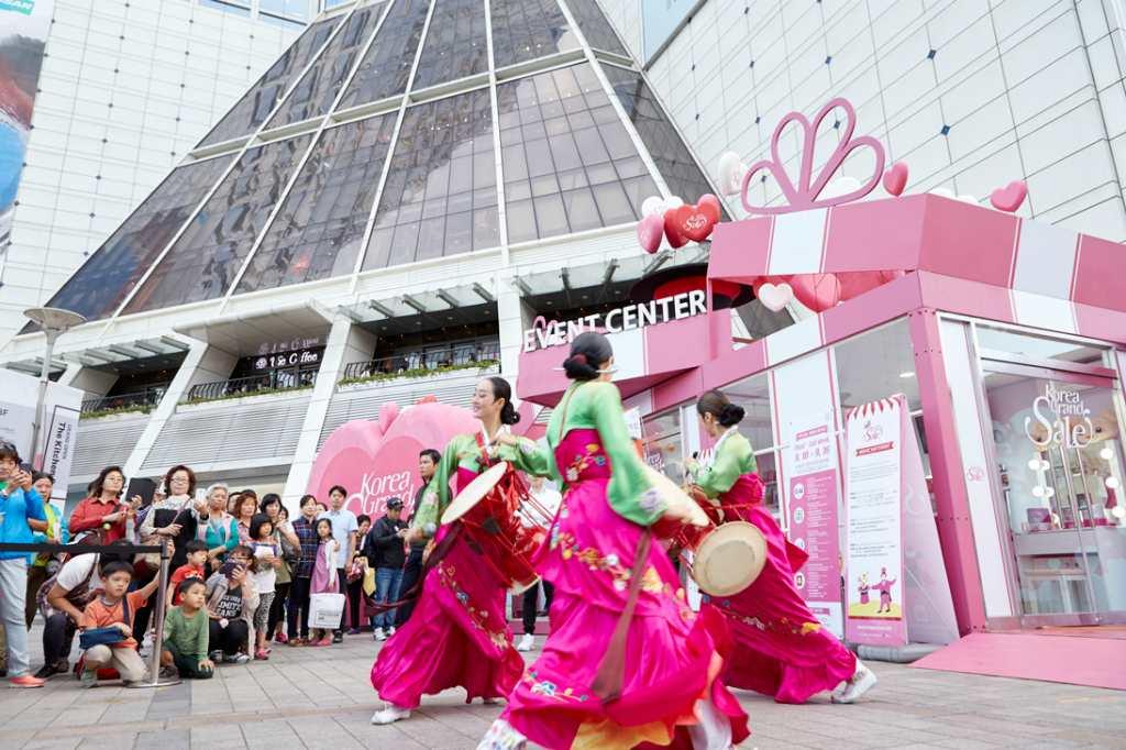 Промоакция в торговом квартале Кореи