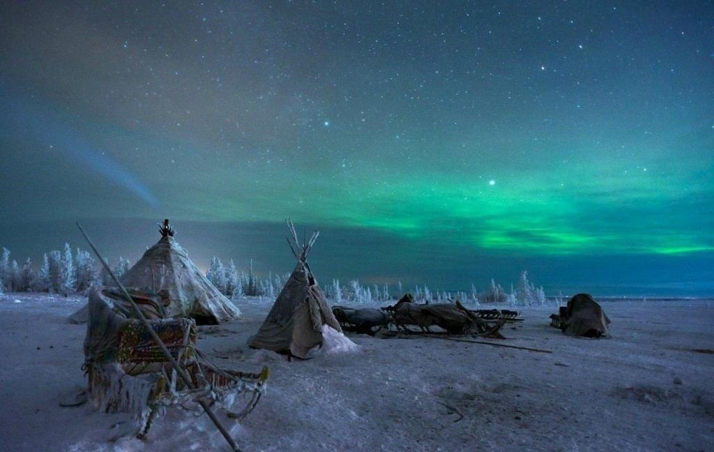 Невероятно красивое северное сияние