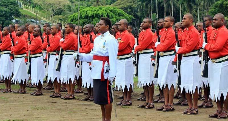 Почетный караул президента на Фиджи
