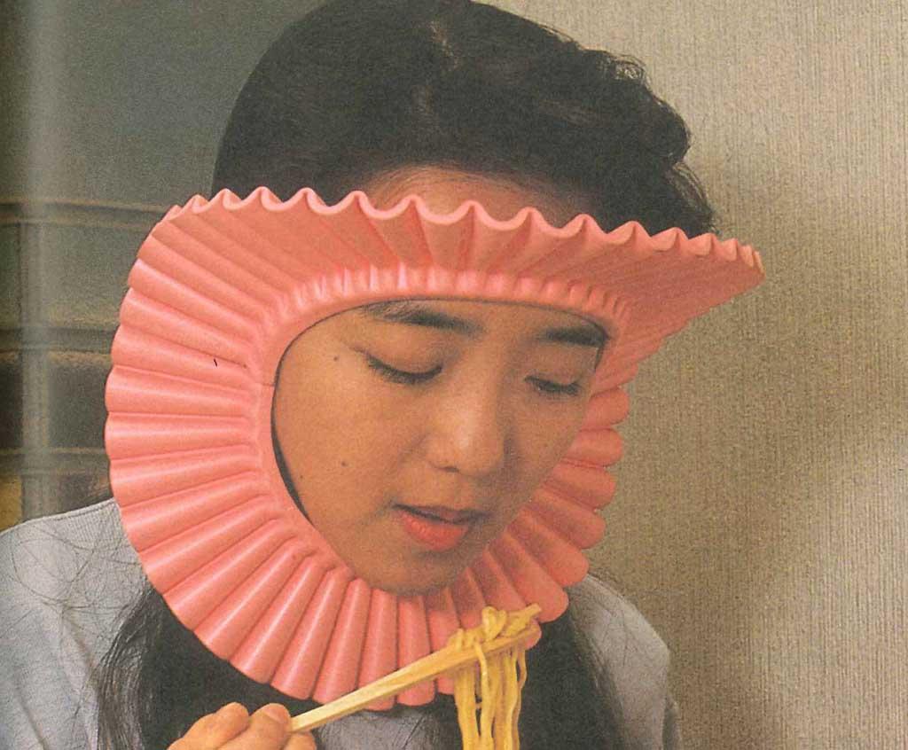 Маска против попадания волос в еду