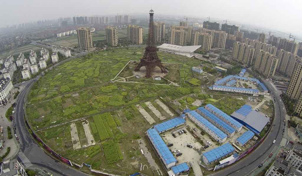 йфелева башня в городе Ханчжоу