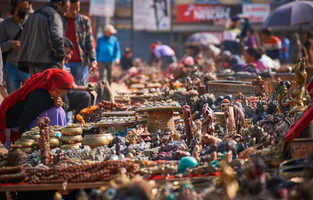 рынок в Непале