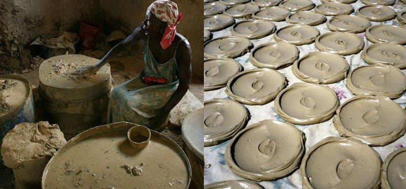 Технология выпечки глины Гаити