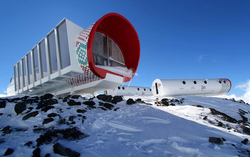удивительная гостиница в высокогорье Эльбруса