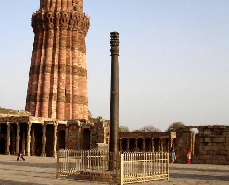 железная колона в Индии Инопланетный сплав