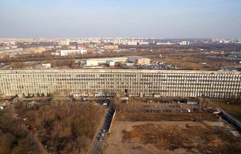 Здание-горизонтальный гигант в Москве