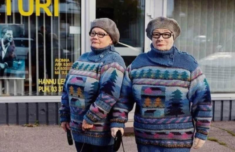 Вязаные копии людей: увлекательное хобби бабушки из Финляндии