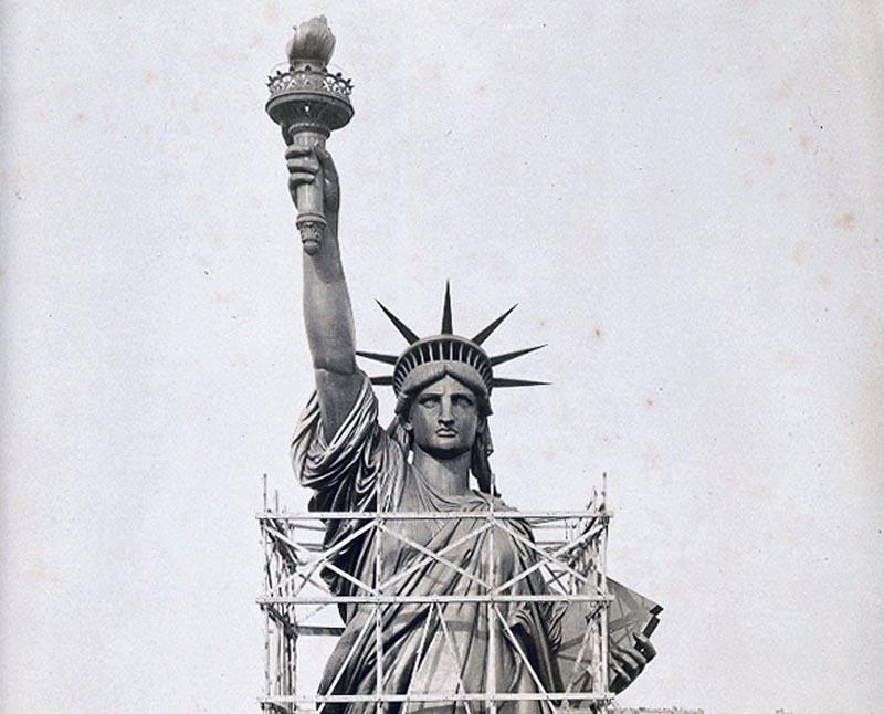 в создании Статуи Свободы участвовали не столько сами американцы