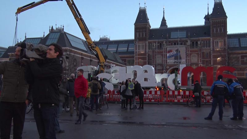 I Amsterdam надпись