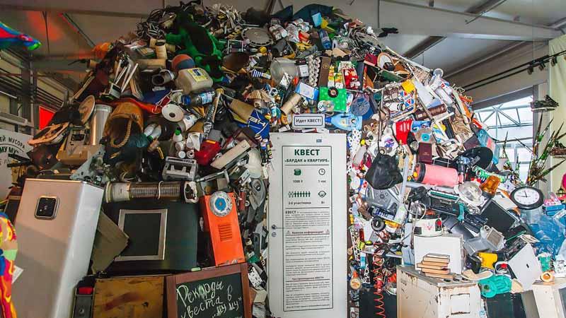 В музее нашли применение мусору