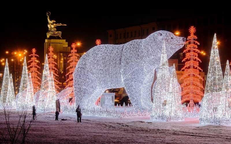 Новогоднее убранство 2020 Москва