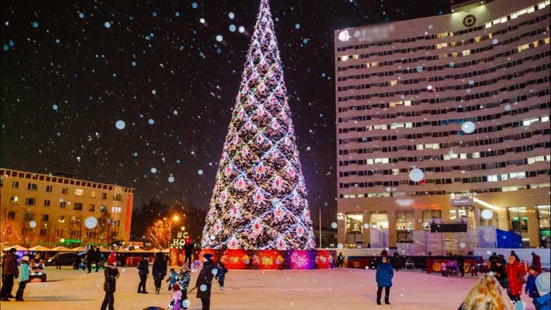 Мурманск  Новогоднее убранство 2020