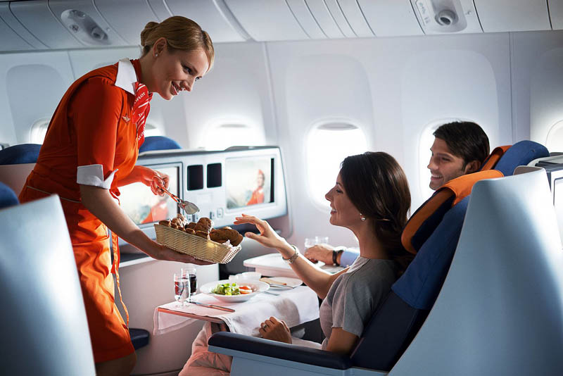 Меню для пассажиров самого длинного перелета в мире
