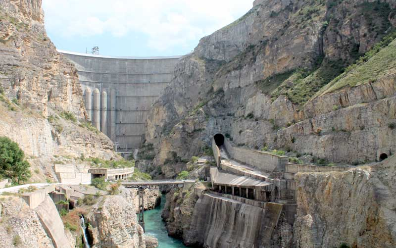 Чиркейская ГЭС является туристической достопримечательностью