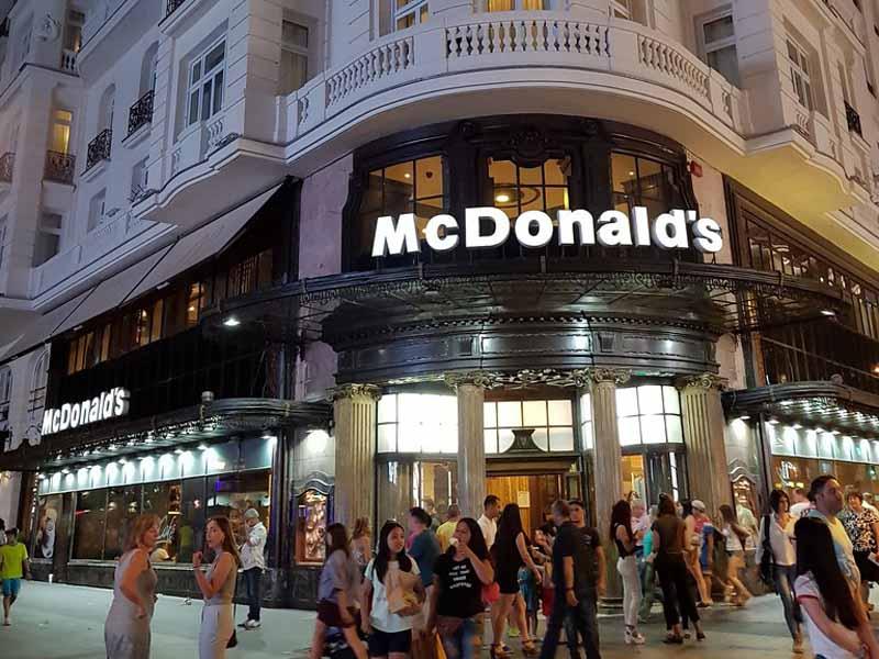 Макдональдс в Мадриде