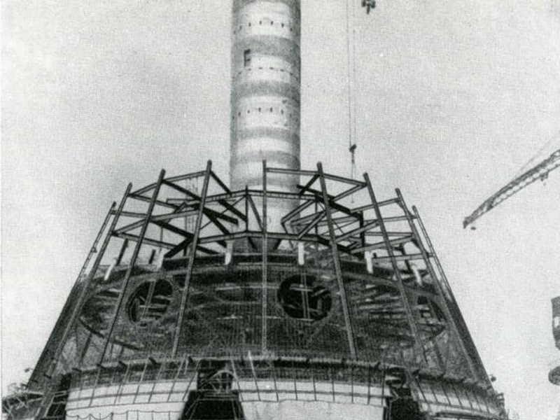Строительство одного из самых высоких зданий в мире Останкино