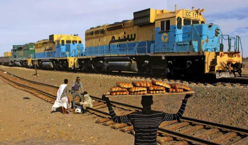 поездка на грузовом поезде через пустыню Сахара