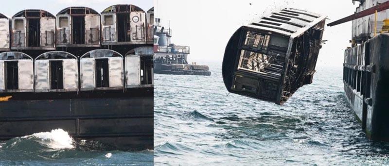 Американские власти осмелились сбрасывать вагоны в воду не только для ее обитателей