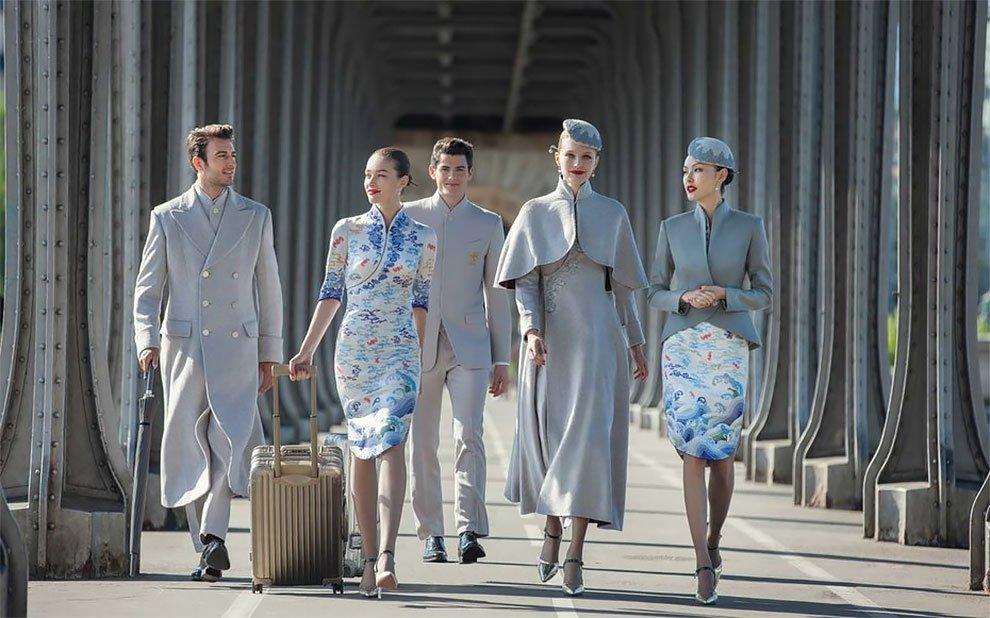 Униформа для стюардесс Китай — Hainan Airlines
