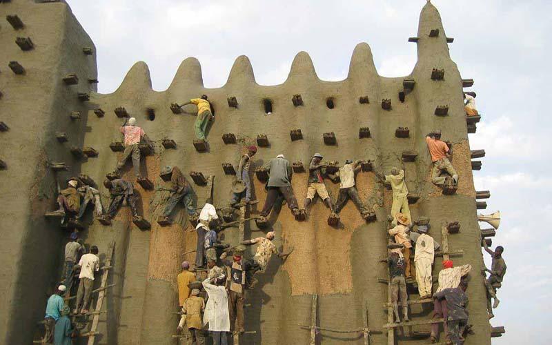 Реконструкция мечети Город Дженне