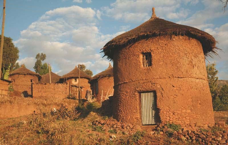 Почему строят круглые дома Жители Африки