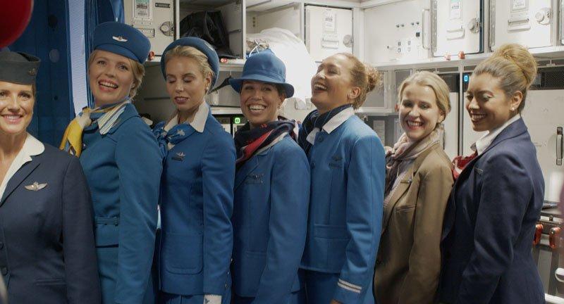 Униформа для стюардесс Голландия — KLM