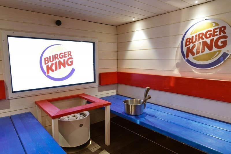 сауна в  «Бургер Кинг» в Финляндии