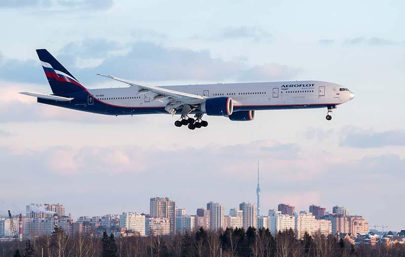 Прекращение международных рейсов компании Аэрофлот