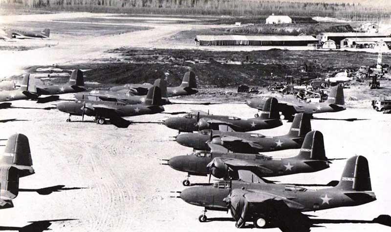 По трассе «Алсиб» перегнали за войну почти 8 тысяч самолетов.