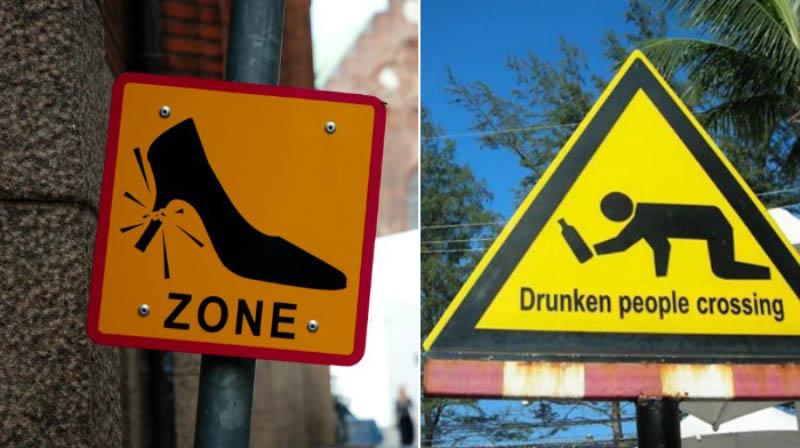 Другие необычные дорожные знаки в мире