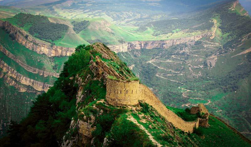 Гунибская крепость в горах Дагестана