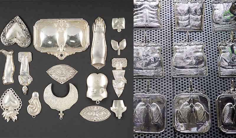 Оставляли серебряные таблички с нарисованным очертанием болезни или очага инфекции