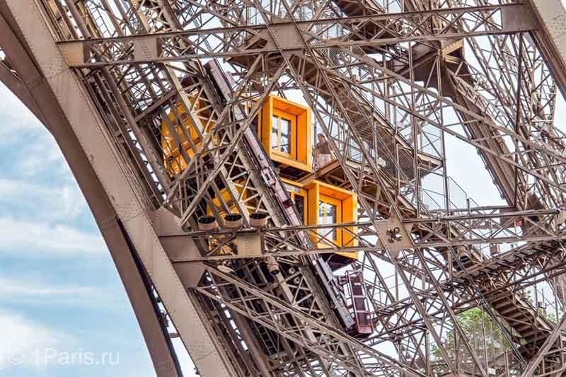 Нюансы работы лифтов Эйфелевой башни