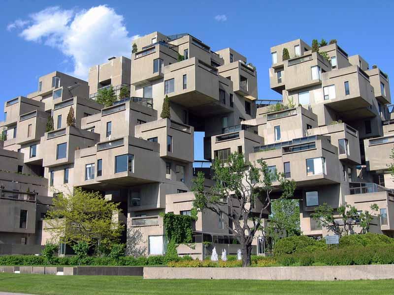 Жилье внутри здания из бетонных блоков: вид изнутри