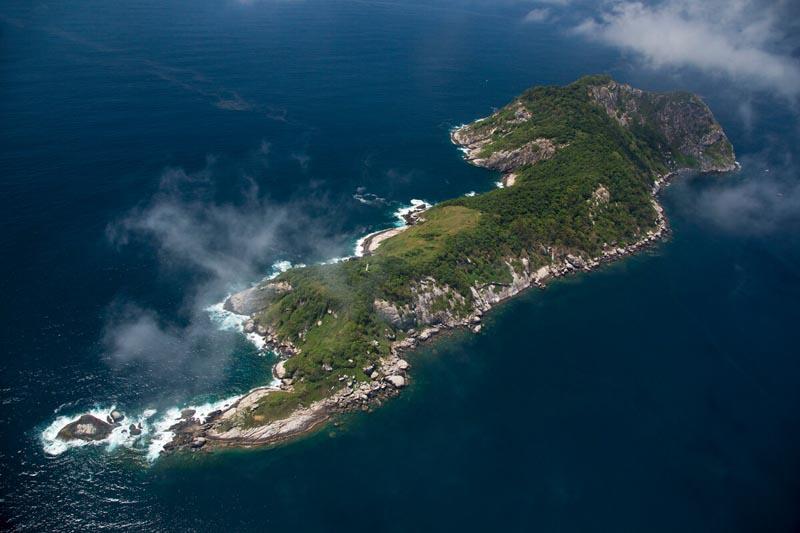 Бразильский остров, обитателями которого являются только змеи