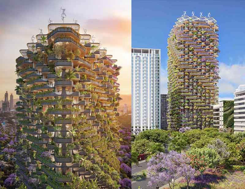 «Радужное дерево» будет построено в парке, расположенном среди огромных бизнес-центров города Себу-Сити.