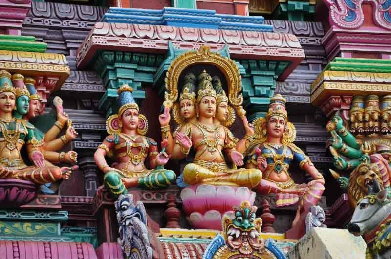 Внешний вид храма шивы