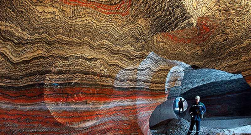 Туннели шахты имеют длину в несколько километров.
