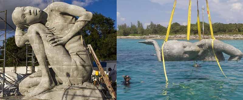 Целью установки «Океанского Атланта» являлось увеличение количества кораллов и огораживание редких рифов от рук человека.