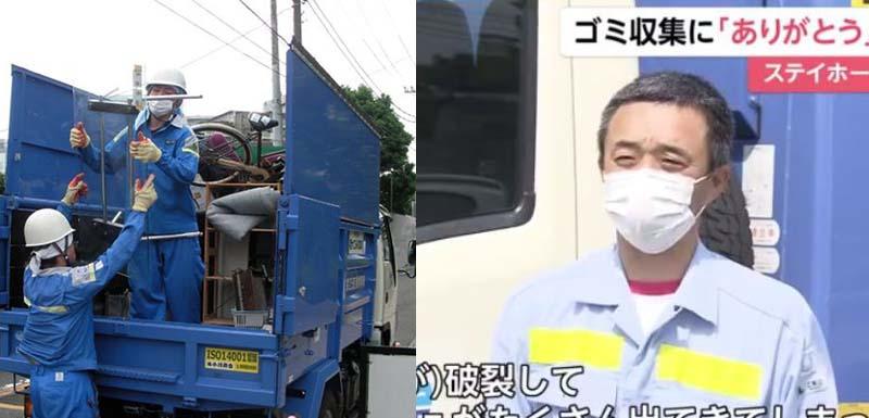 Мусорщики и до появления коронавируса обязательно надевали маски и перчатки, теперь дополнительно используют еще защитные очки.
