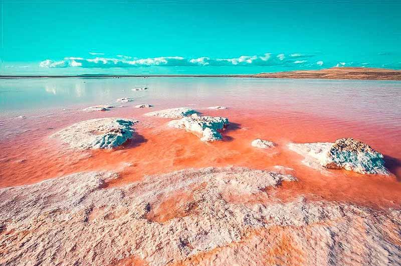 Озеро Натрон расположено вблизи границы Кении и Танзании, площадь зеркала воды составляет более одной тысячи квадратных метров