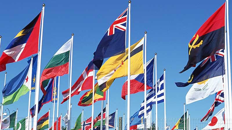 Какой цвет не использовали при создании флагов?