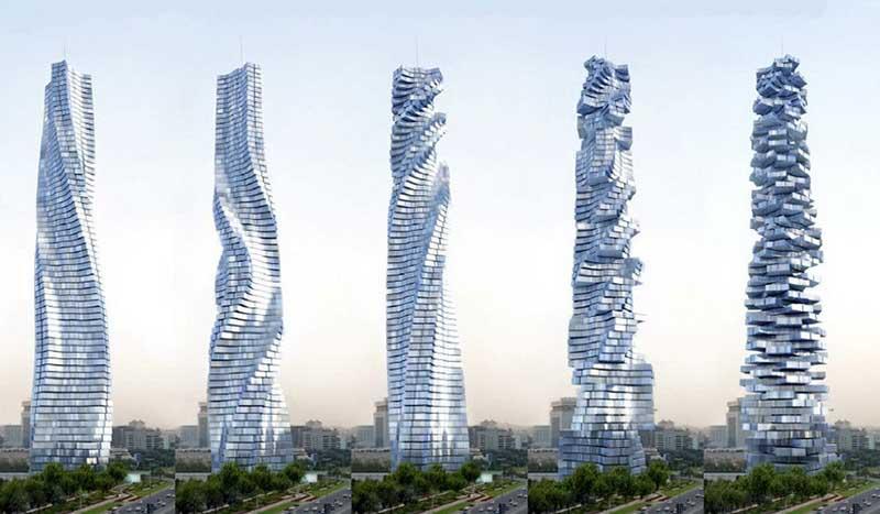 Двигающиеся здания: проекты кинетической архитектуры
