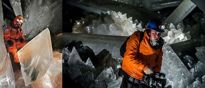 . В 1910 году на глубине 120 метров был обнаружен схожий объект, кристаллы которого достигали метровой величины.