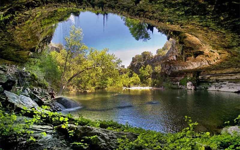 Как образовалось озеро Гамильтон, которое находится как под землей, так и над ней