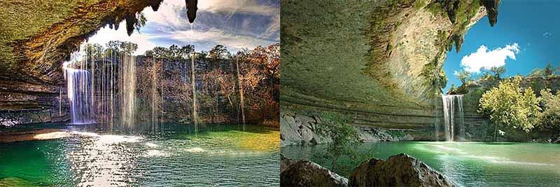 Озеро Гамильтон является естественным водоемом, уровень воды в котором поддерживается водопадом.