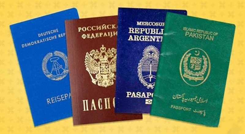 По какой причине во всем мире паспорта выдают одного из четырех цветов