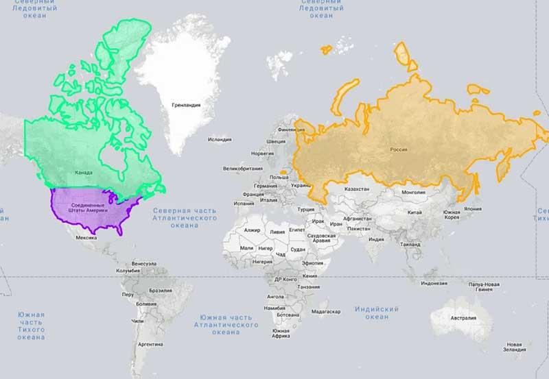 Мексика имеет площадь 1 972 550 кв. км.
